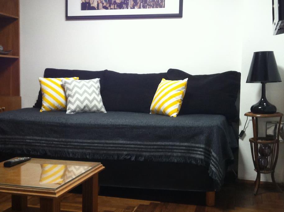 estar con sillon cama, muy comodo!