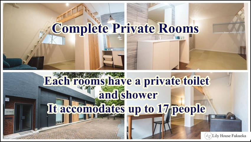 3 Big Private rooms Near Tenjin, Hakata, Fuk Dome