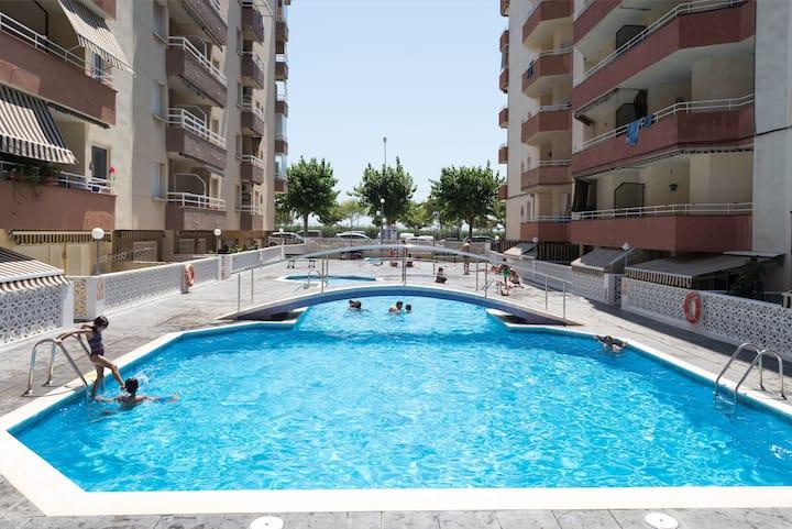 1r línea mar, piscina, especial familias