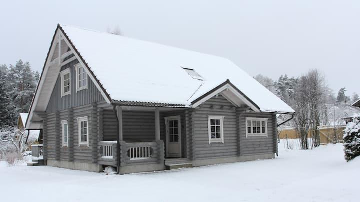 Beautiful log House in Otepää city