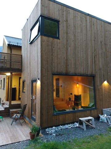 Hus ved foten av Romsdalseggen