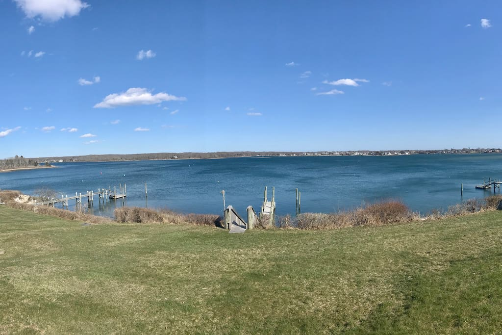 Panoramic view from back deck