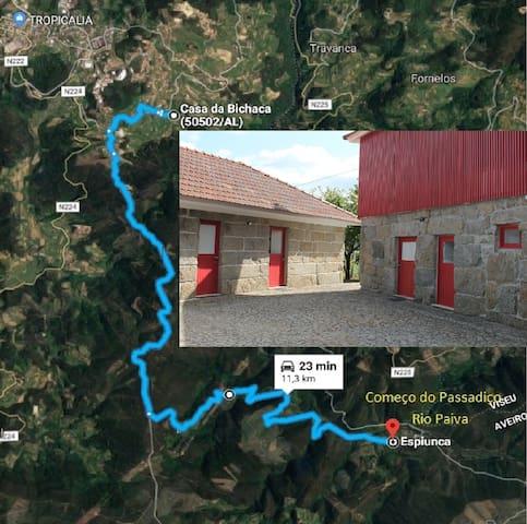 Chambre des Bichaca/Passerelle de la Rivière Paiva