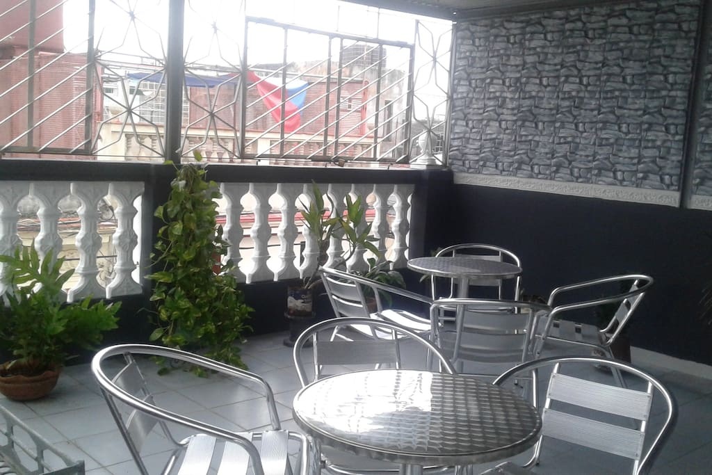 Our roof terrace is a great place to relax and watch time pass by.