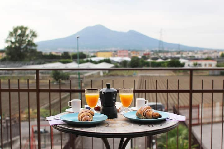 COZY APARTMENT NEAR POMPEI  WITH VESUVIUS VIEW