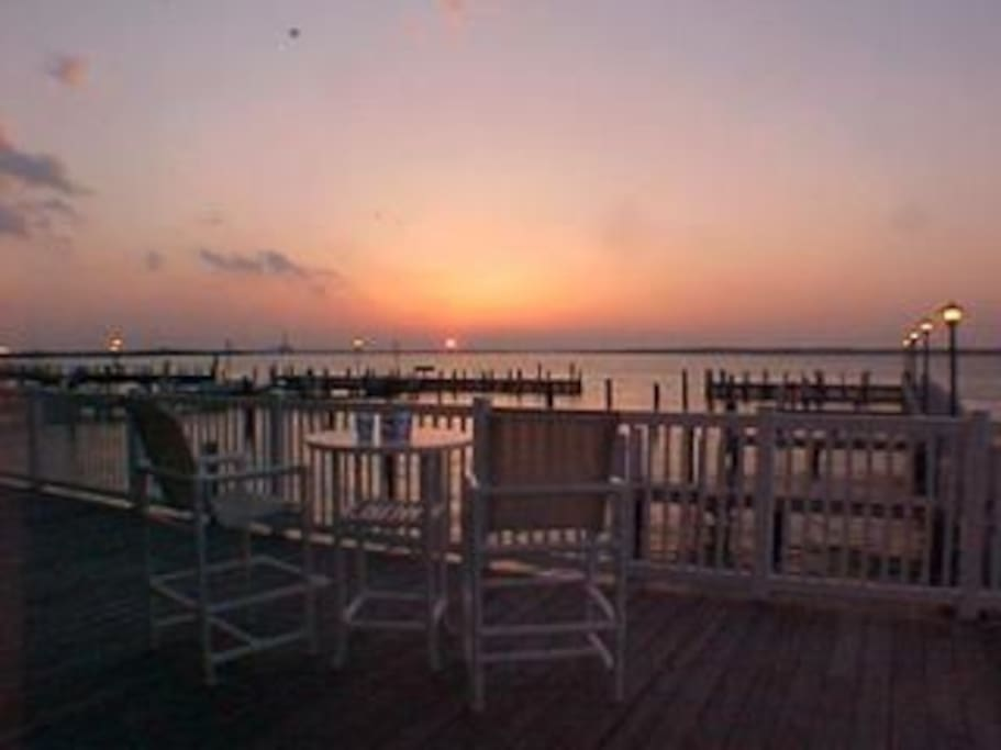 No two sunsets are ever the same!  Just outside the unit door looking at the marina and bay ... beautiful!