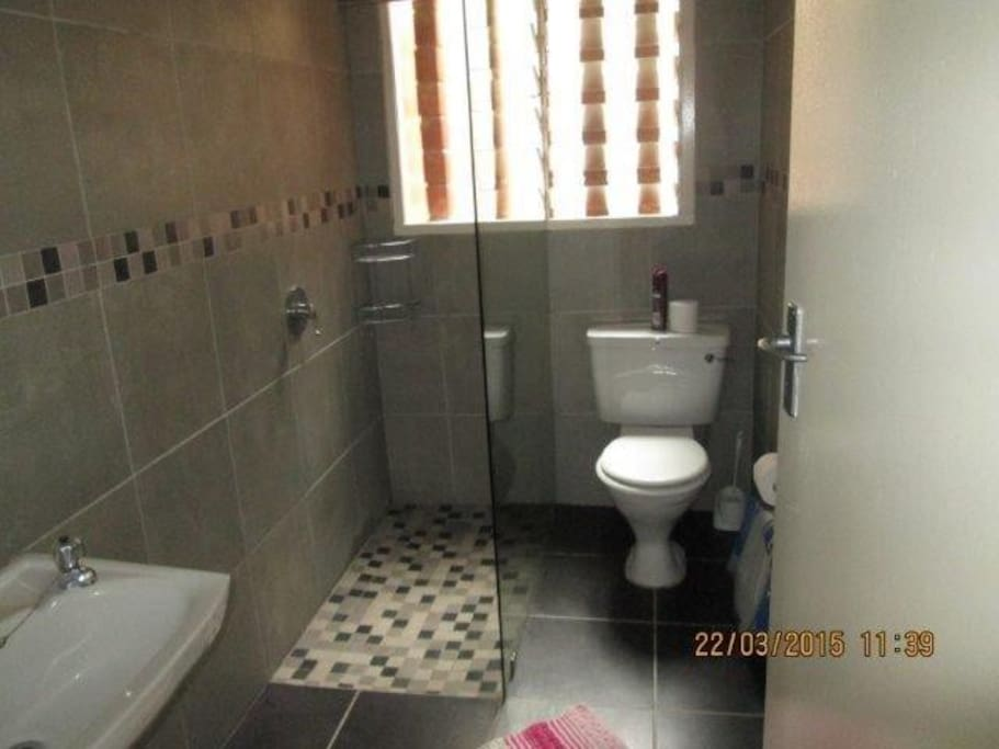 Family bathroom with shower only
