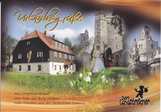 Ferienwohnung Landstreicher nahe der Burg Stolpen - สโตลเปน - อพาร์ทเมนท์