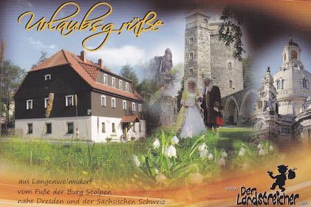 Ferienwohnung Landstreicher nahe der Burg Stolpen - Stolpen - Lejlighed