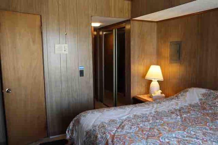 Master bedroom has half- bath.