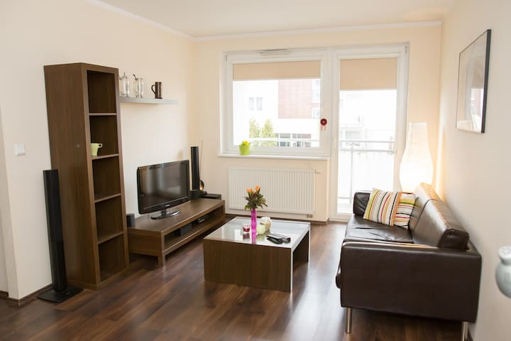 Cozy apartment,  train to town and airport - Gdansk - Departamento