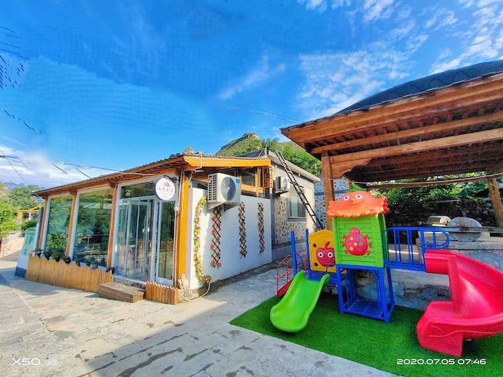 野三坡5A级景区+整院出租+露天烧烤+朋友家庭聚会