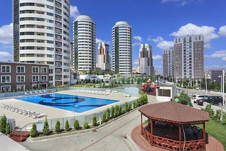 Cosy apartment with swimming pools and spa - Başakşehir - 公寓