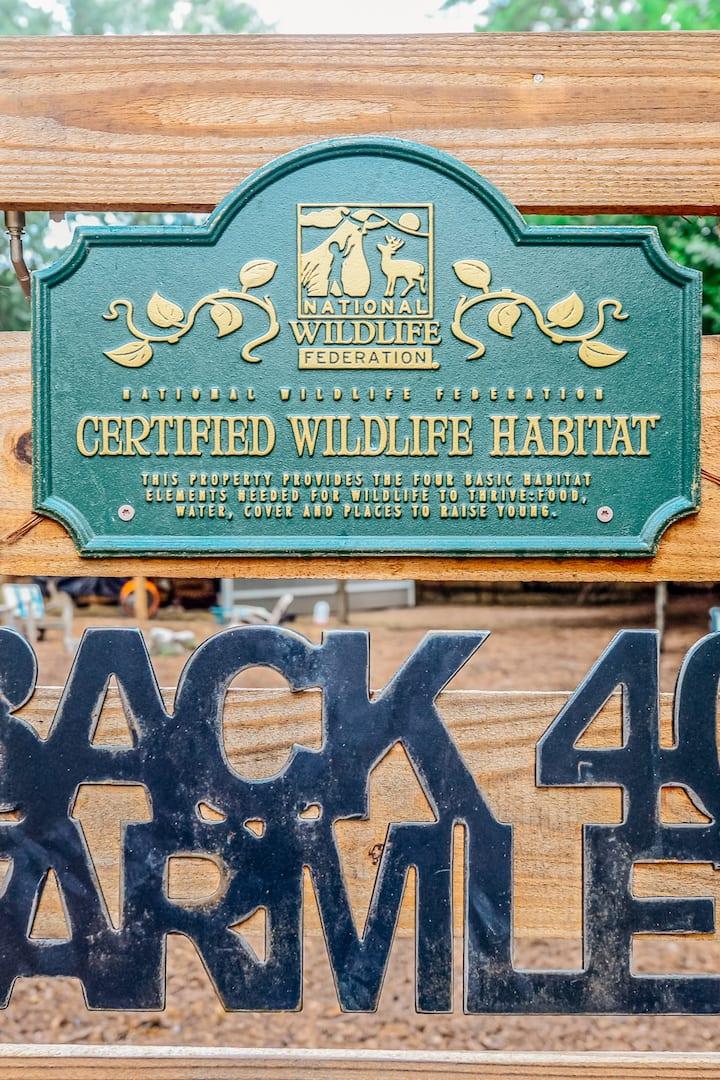 Wildlife friendly-NWF Certified  Habitat