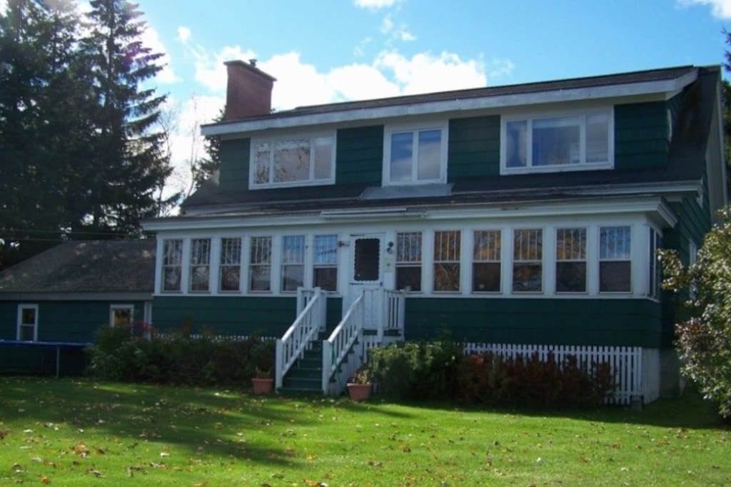 Lake house winter summer retreat houses for rent in eagle lake maine united states - Large summer houses energizing retreat ...