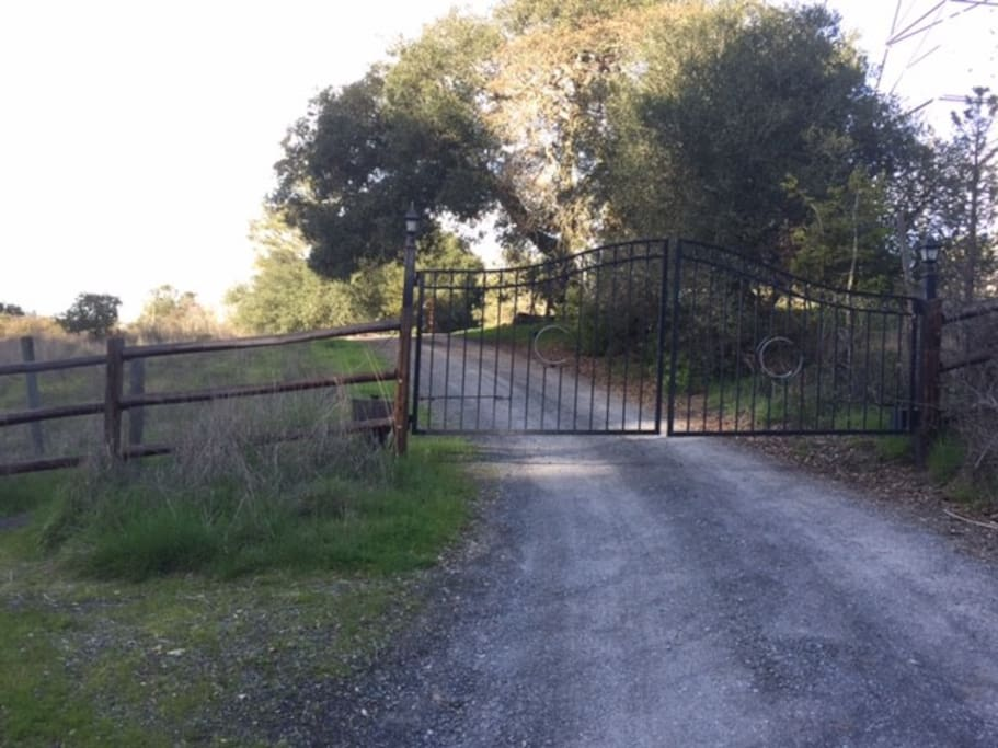 Gated entry just off Sonoma Mountain Road
