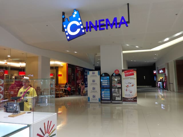 The cinemas at the ground floor
