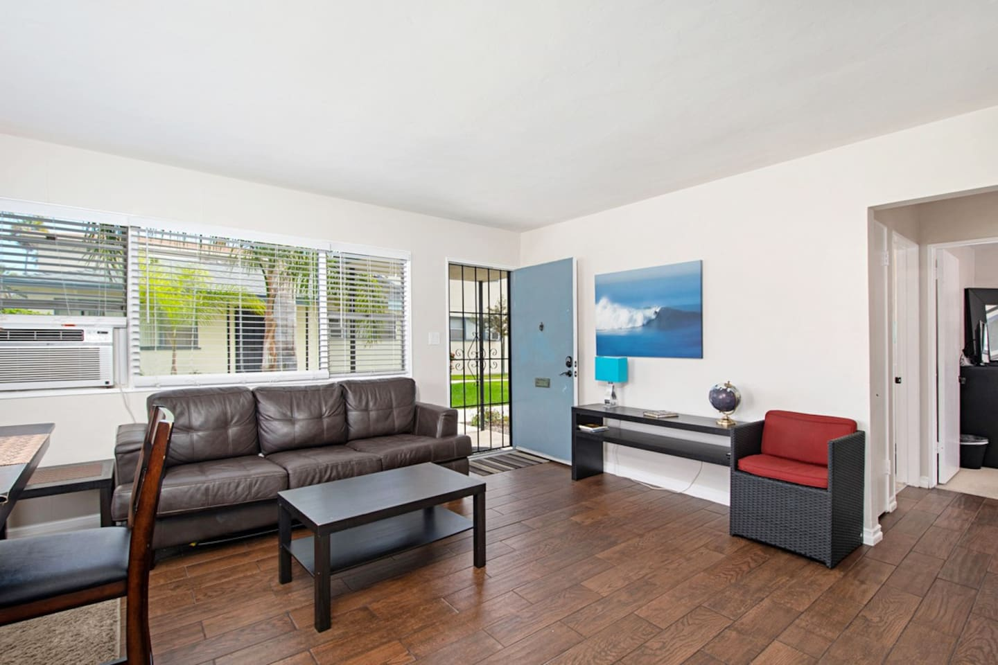 Wonderful, bright and open living room...and air conditioning!