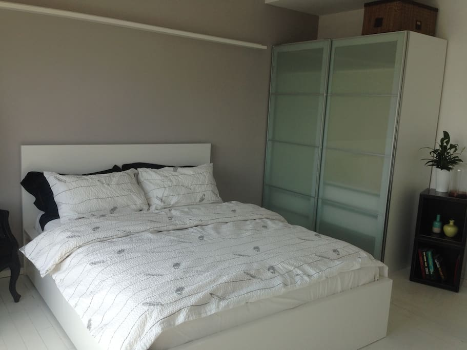 Bedroom with closet space