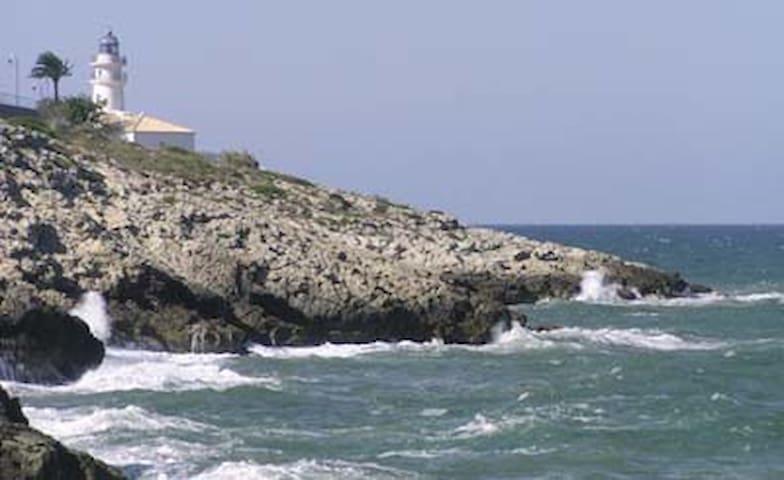 Apartamento frente al mar Mediterráneo - Faro de Cullera - Apartamento