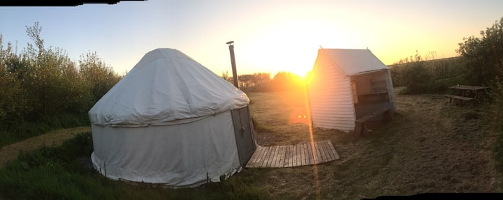 Beautiful Yurt 1 on a secluded coastal site