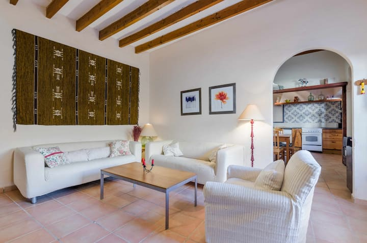 YourHouse Ca Na Piula, townhouse in Arianty with terrace for 6 guests