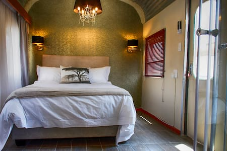 Stylish Train Accommodation  on your way to Etosha
