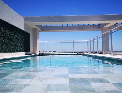 Departamento con piscina en Asuncion.