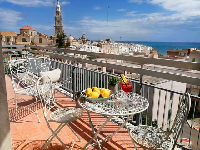 Appartamento Levante vista mare e centro storico