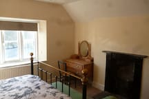 Character bedrooms with original victorian fireplace