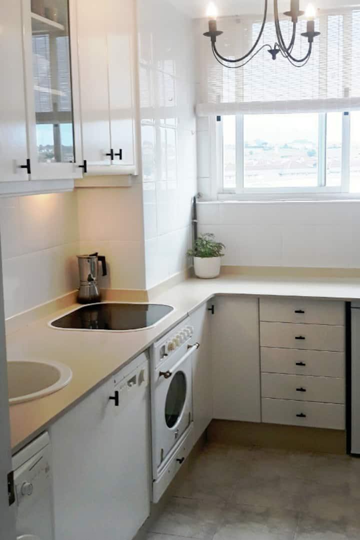 Ático de 2 habitaciones y dos camas en Santander