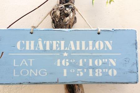 Plage/Centre Châtel, joli log. & sa terrasse, - Châtelaillon-Plage