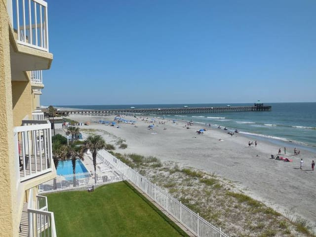 Beachfront condo Folly Beach 4/Br - Folly Beach - Apartament