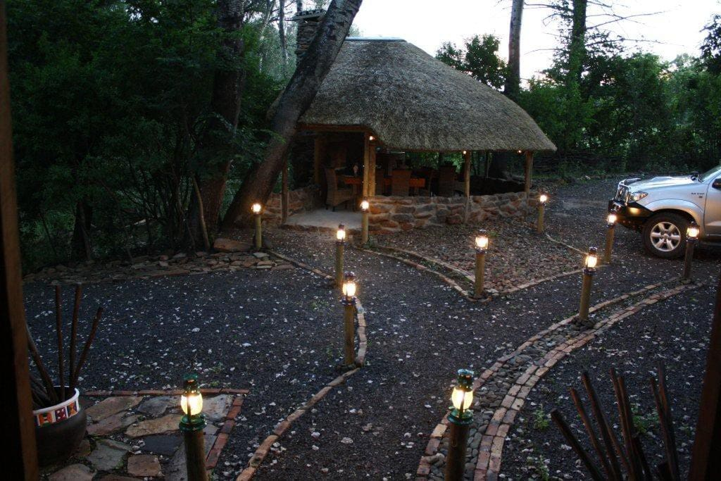 Picture of the boma from the lodge