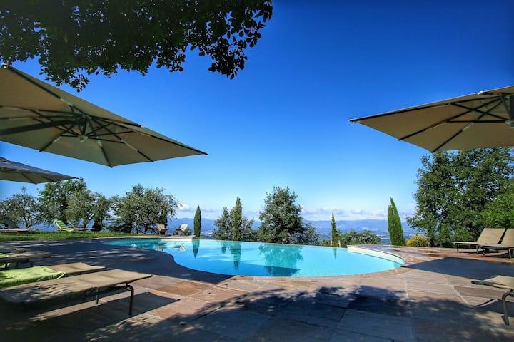 Majestic Farmhouse in Loro Ciuffenna with Pool