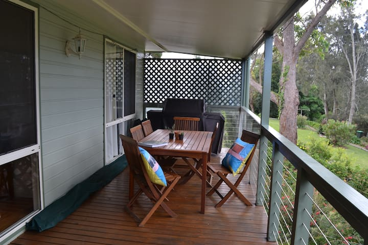 Dine on the verandah morning, noon and night.