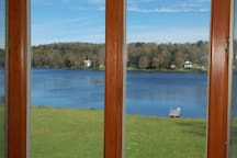Lake view from dining area