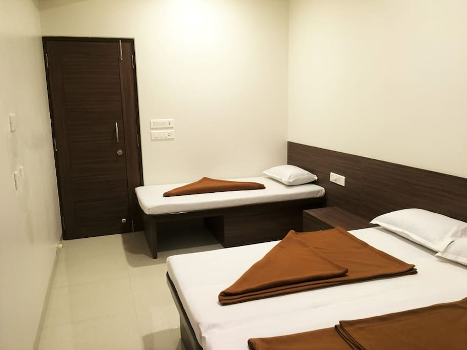 Master bedroom with  AC, TV