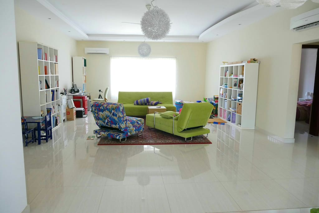 Sitting Room for guests. Playroom for children.