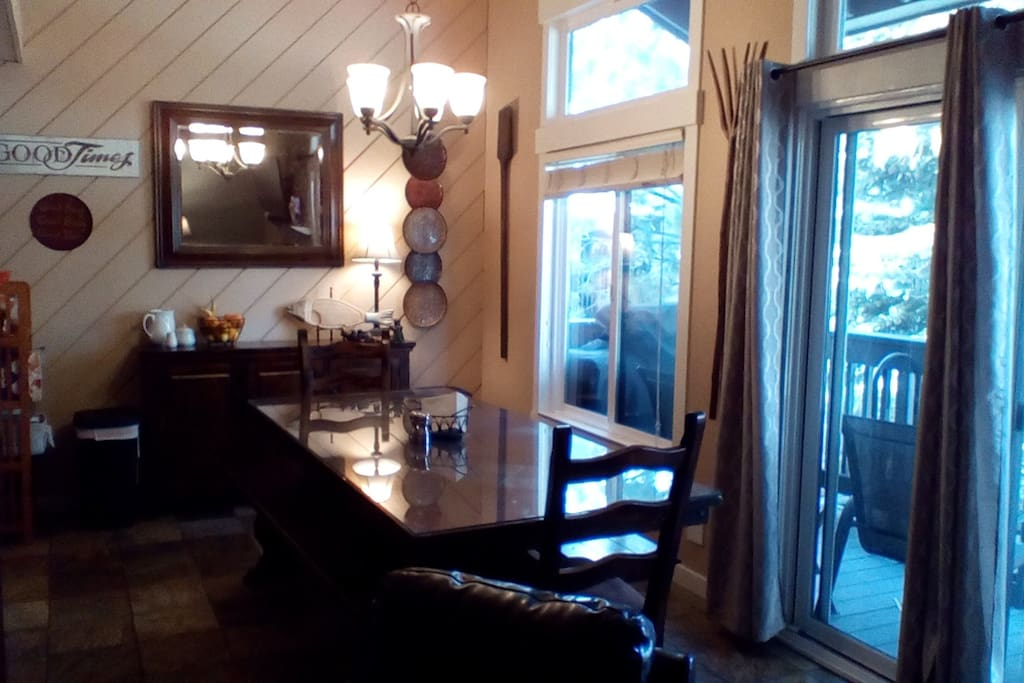 Large dining table to seat the entire family.
