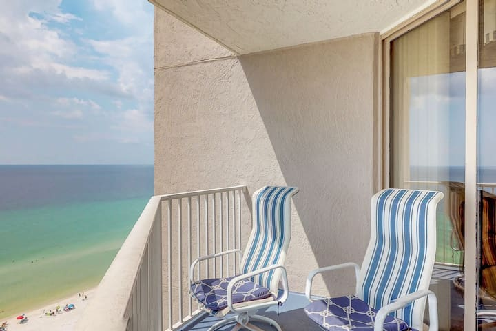 Gulf-front condo w/ view, 3 resort pools, tennis & 1,500 ft of resort beachfront