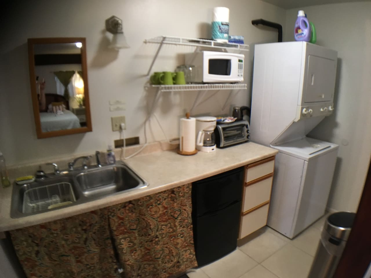 Kitchenette with Clothes Washer/Dryer