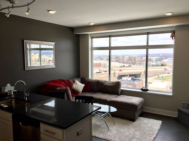 Downtown modern 1-bedroom with a view! - Grand Rapids - Apartemen