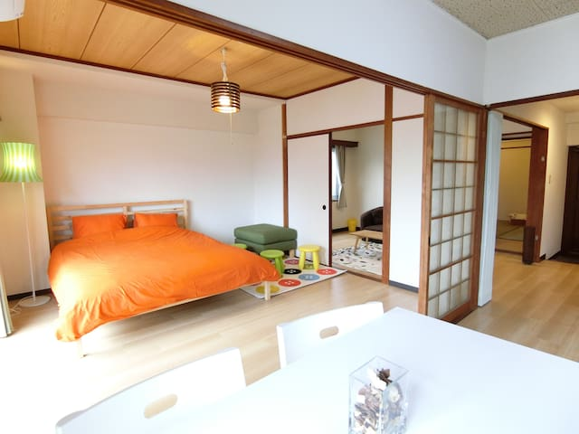 #101 New Open, 60sqm, Free Parking & Mobile WiFi - Beppu-shi - Apartment
