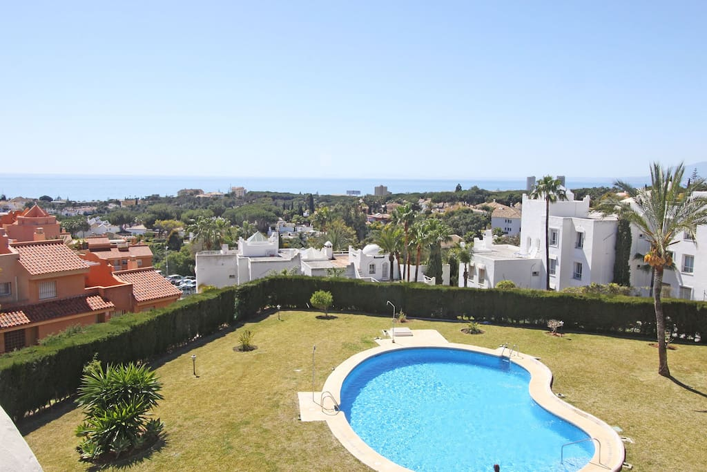 amazing panorama view from the 2 roof terrazes