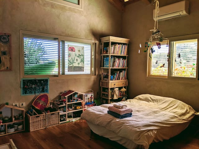 The Kids room or guests room, with a sofa that turns into a double bed