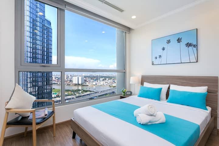 Best Riverside & Landmark 81 View, 36Th Floor- 2BR