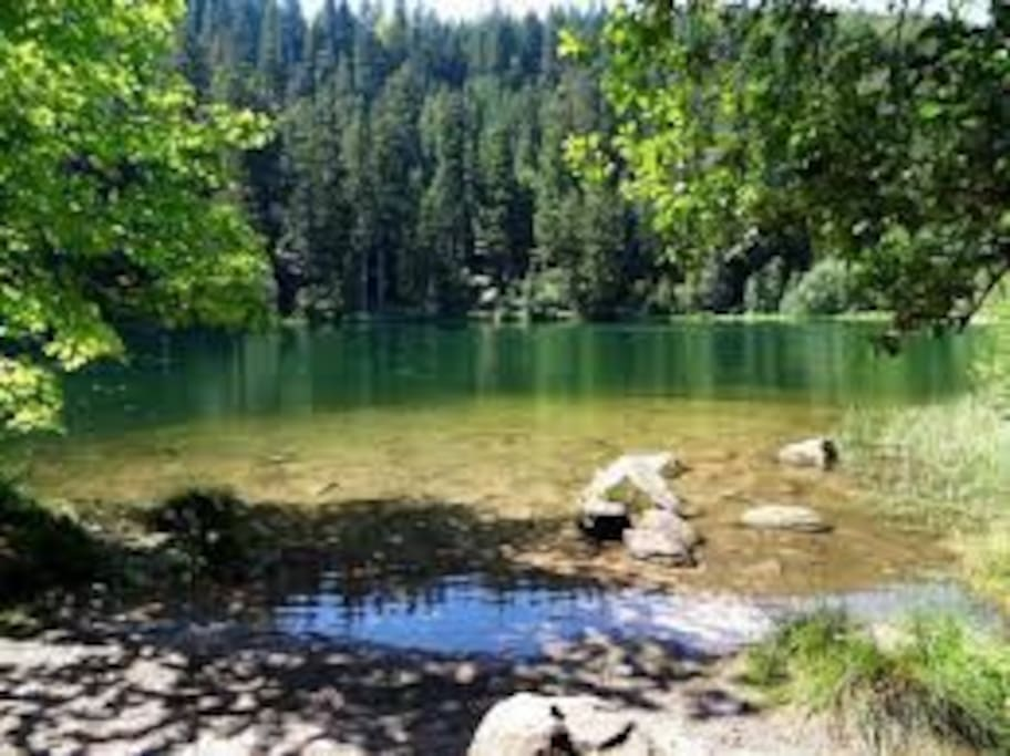 Accès au sentier du Lac de la Maix