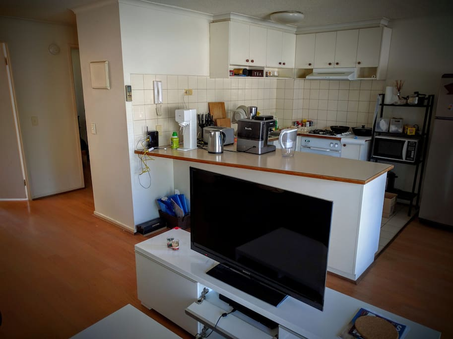 Kitchen area, with awesome Coffee machine, toast, and even soda machine, never worry about breakfast again!