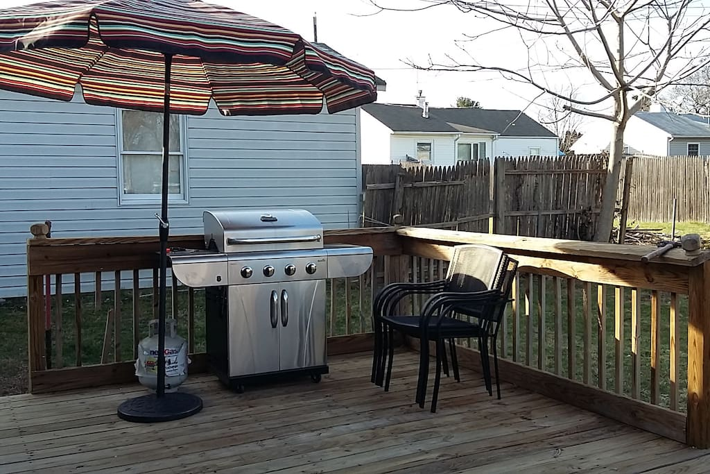 Backyard with a Deck